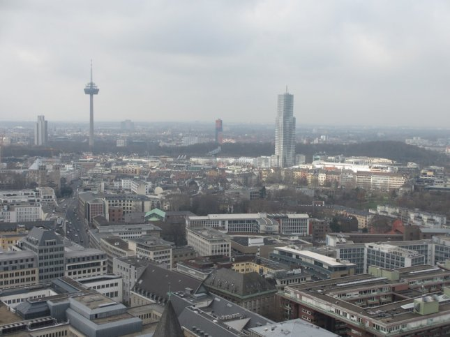 Colonius and Mediapark seen from Cologne cathedral