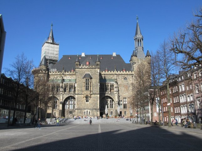 Back of the city hall of Aachen