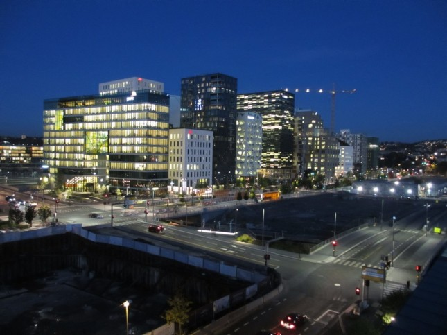 Oslo, next to central station and opera by night