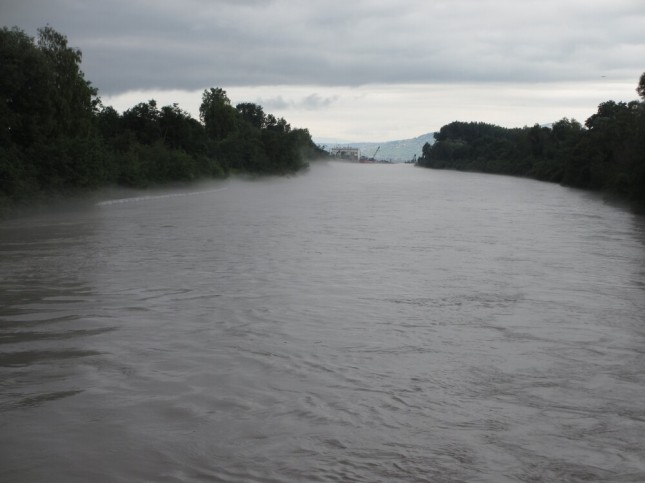 Le Rhône se jetant dans le Léman