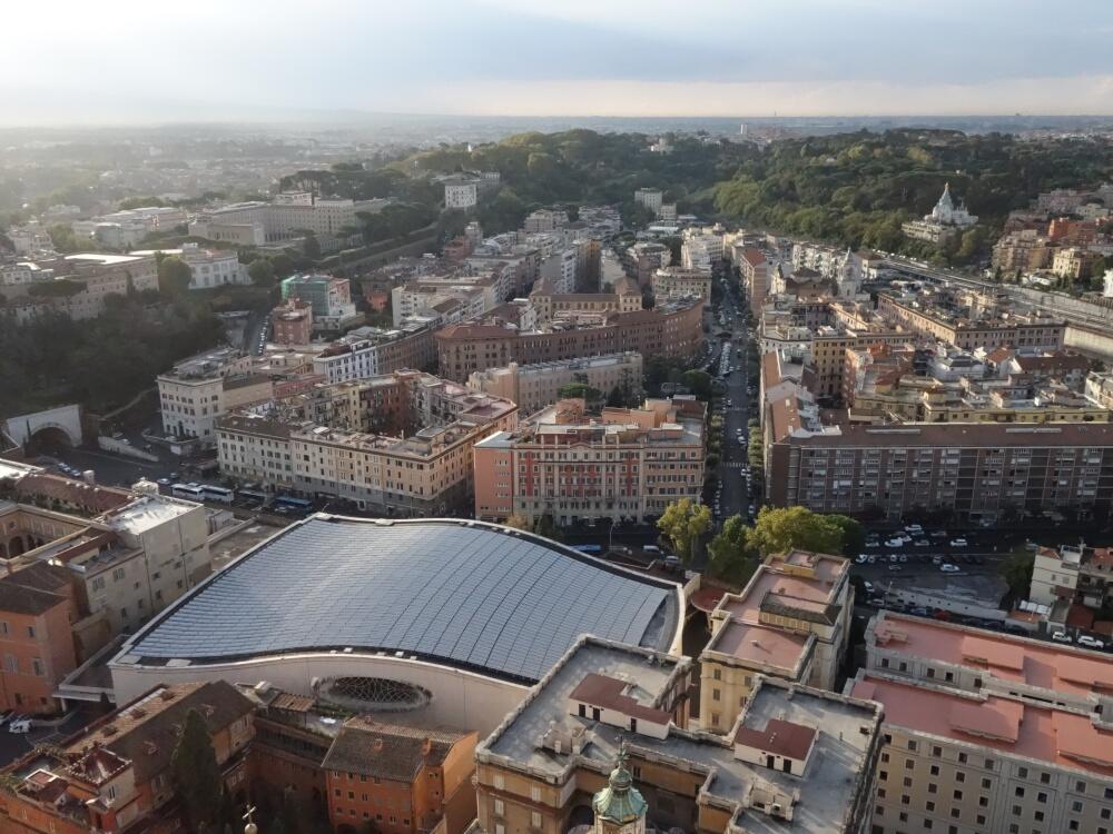 Panorama de la basilique St-Pierre (vers le sud, côté Janicule)